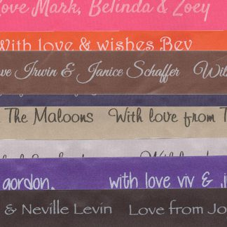 Personalised Ribbons - R240 for a 20m per roll